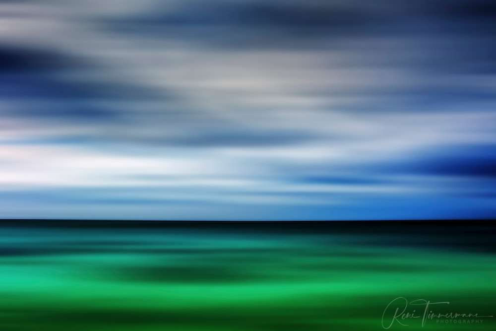 Turquois blue skyline