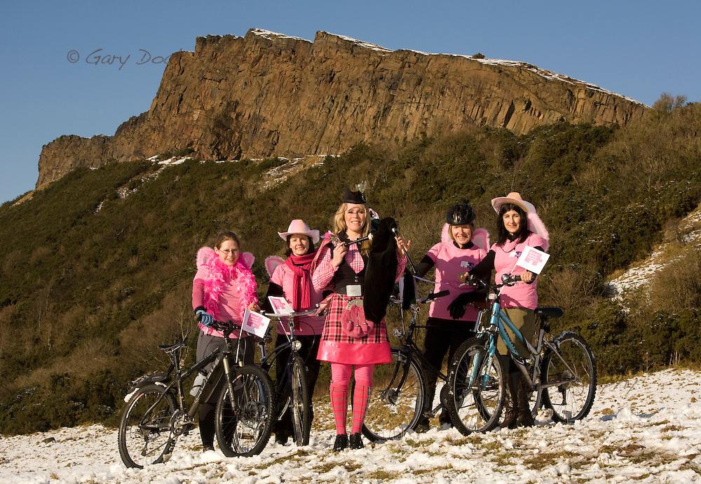 Pedal it Pink!.Edinburgh launch.