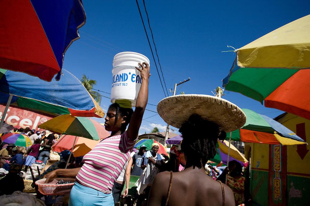 A street market in Jacmel, Haiti. 2/15/2009 Photo by Ben Depp