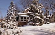 Home scene, fresh snow, Cumru Township, Berks Co., PA