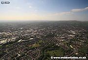 aerial photograph of Bolton Lancashire UK