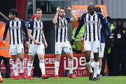 Goal - Jay Rodriguez (19) of West Bromwich Albion celebrates scoring a goal to give a 0-1 lead to the away team during the Premier League match between Bournemouth and West Bromwich Albion at the Vitality Stadium, Bournemouth, England on 17 March 2018. Picture by Graham Hunt.