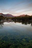 San Gabriel Mountains Reflection in Pond, San Gabriel Valley, California