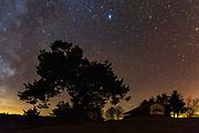 Sky full of stars in Rhodope Mountain