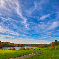 Massachusetts Green Hill Golf Course photography image located on Skyline Drive at Green Hill Park in Worcester, MA.<br />