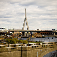 View of the Zakim Bridge from Cambridge.