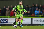 Forest Green Rovers Jack Aitchison(29), on loan from Celtic runs forward during the EFL Sky Bet League 2 match between Forest Green Rovers and Scunthorpe United at the New Lawn, Forest Green, United Kingdom on 7 December 2019.