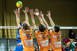 during volleyball match between ACH Volley Ljubljana (SLO) and Kuzbas Kemerevo (RUS) n 2nd Round, group B of 2019 CEV Volleyball Champions League, on December 11, 2019 in Hala Tivoli, Ljubljana, Slovenia. Grega Valancic / Sportida