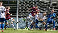 FODBOLD: Frederik Sundstrup (BK Frem) scorer til 1-0 under kampen i 2. Division mellem BK Frem og Slagelse B&I den 11. maj 2019 i Valby Idrætspark. Foto: Claus Birch