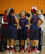 Frisco Centennial guard McKenzie Adams looks on during a timeout against Frisco Wakeland at Wakeland High School on Friday, January 25, 2013. (Cooper Neill/The Dallas Morning News)