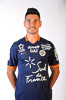 Morgan Sanson during the photocall of Montpellier for new season of Ligue 1 on September 27th 2016 in Montpellier<br /> Photo : Mhsc / Icon Sport