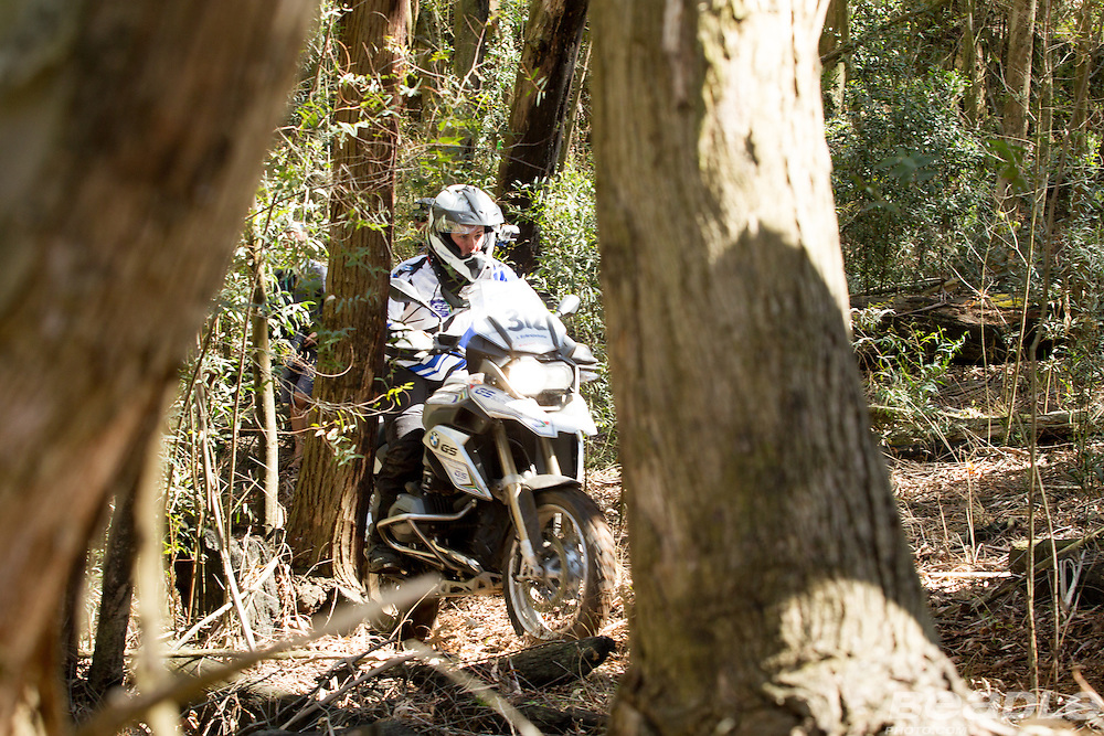 Inga Birna Erlingsdottir from Iceland participating in the inaugural GS Trophy Female qualifying event at the 2015 BMW Motorrad GS Trophy Female Team Qualifying Event held at Countrytrax Amersfoort, South Africa. Image by Greg Beadle