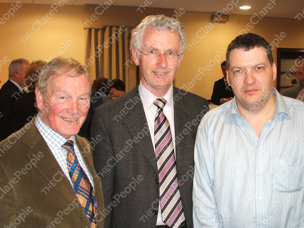 Liam Sampey, Frank Killilea and Bernard Moynihan at the ASTI convention at the West County Hotel in Ennis