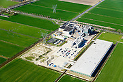 Nederland, Noord-Holland, Beemster, 20-04-2015; Rijperweg, CONO Kaasmakers met nieuwe kaasmakerij (Bastiaan Jongerius Architecten). Fabricatie van Beemsterkaas (Beemster kaas)<br /> Beemster cheese factory.<br /> luchtfoto (toeslag op standard tarieven);<br /> aerial photo (additional fee required);<br /> copyright foto/photo Siebe Swart