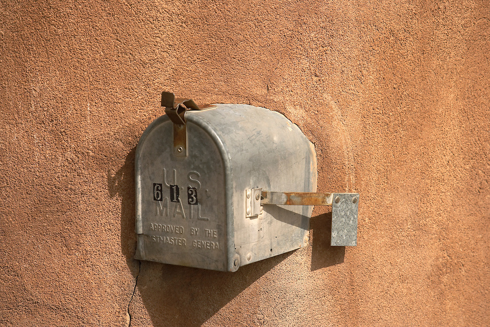 Mailbox in adobe wall