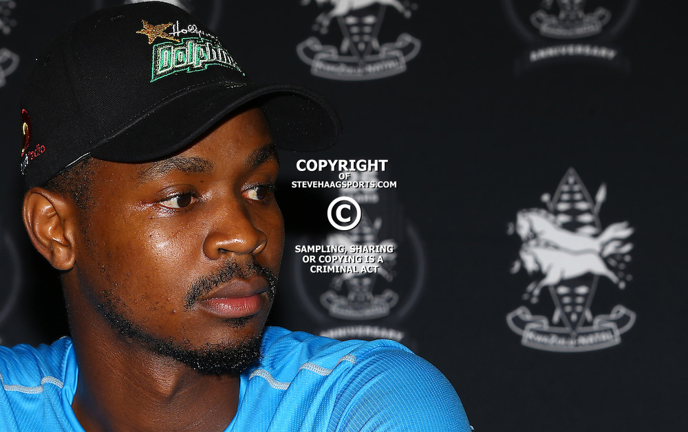 Khaya Zondo (Captain) of Hollywoodbets Dolphinsduring the Hollywoodbets Dolphins Momentum One Day Cup media open day and interview opportunity, at the Annex, Sahara Stadium Kingsmead, Durban, South Africa. 15 February 2017 - (Photo by Steve Haag)