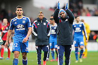 Joie LYON - Alexandre LACAZETTE - 04.04.2015 - Guingamp / Lyon - 31eme journee de Ligue 1<br />
