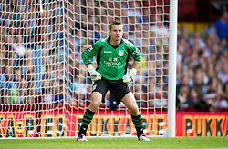 BIRMINGHAM, ENGLAND - Saturday, August 25, 2012: Aston Villa's goalkeeper Shay Given in action against Everton during the Premiership match at Villa Park. (Pic by David Rawcliffe/Propaganda)