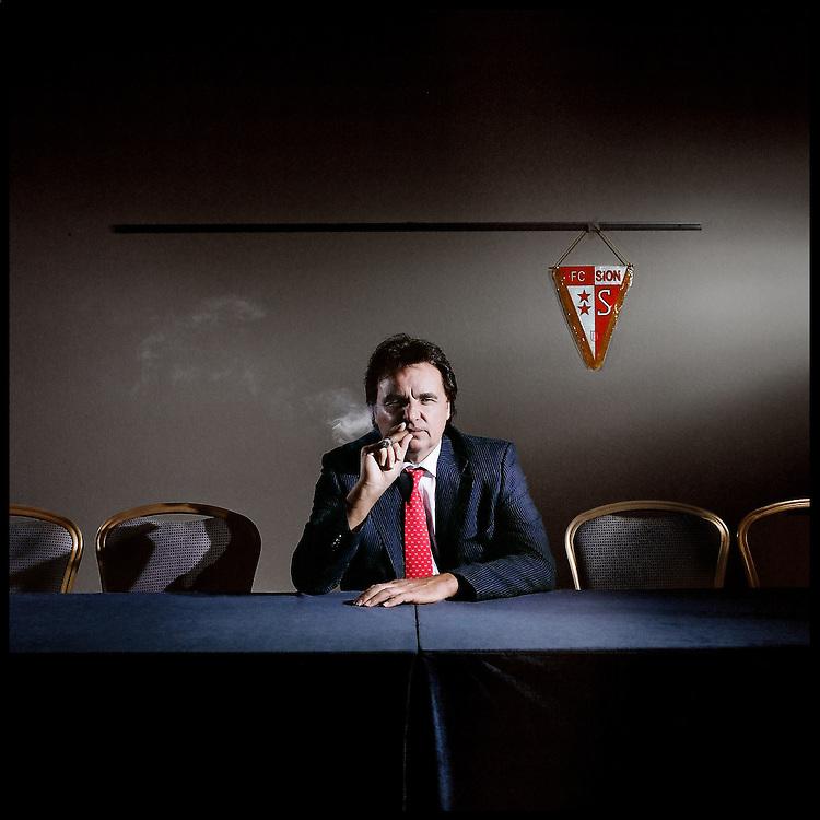 Christian Constantin, president du FC Sion. Geneve, octobre 2009. © Fred Merz | lundi13