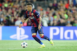 06.05.2015, Camp Nou, Barcelona, ESP, UEFA CL, FC Barcelona vs FC Bayern Muenchen, Halbfinale, Hinspiel, im Bild Neymar #11 (FC Barcelona) // during the UEFA Champions League semi finals 1st Leg match between FC Barcelona and FC Bayern Munich at the Camp Nou in Barcelona, Spain on 2015/05/06. EXPA Pictures © 2015, PhotoCredit: EXPA/ Eibner-Pressefoto/ Kolbert<br /> <br /> *****ATTENTION - OUT of GER*****