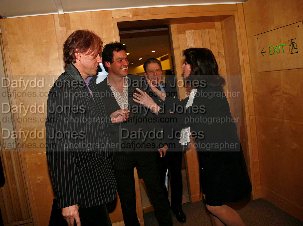 SIR BOB GELDOF, DOMINIC WEST, EDWARD FOX AND  JOSEPHINE HART. After-drinks JOSEPHINE HART Poetry Hour. British Library. Euston Rd. London. 22 March 2006. ONE TIME USE ONLY - DO NOT ARCHIVE  © Copyright Photograph by Dafydd Jones 66 Stockwell Park Rd. London SW9 0DA Tel 020 7733 0108 www.dafjones.com