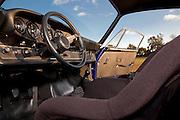 Image of a blue 1973 Sunoco RSR tribute car interior in Virginia, Porsche 911 RSR, property released