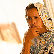 Lamratu Walet Mohamedoune during a consultation at a Médecins Sans Frontières (MSF) health centre at the Mbera camp for Malian refugees in Mauritania on 3 March 2013.