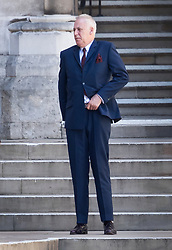 © Licensed to London News Pictures. 22/05/2017. London, UK. Michael Barrymore takes a cigarette break at the High Court. Barrymore is seeking damages after being arrested by Essex police in 2007 after a death at a party at the entertainers house in 2001. Photo credit: Peter Macdiarmid/LNP