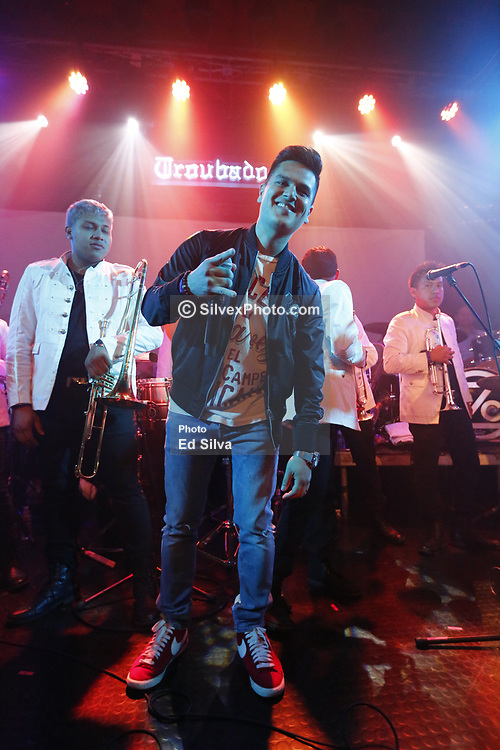 LOS ANGELES, CA - MAY 2: Regulo Caro performs on stage with Ozomatli and Banda Maravillosa at the Troubadour in West Hollywood on Tuesday  May 2, 2017, in Los Angeles, California. Byline, credit, TV usage, web usage or linkback must read SILVEXPHOTO.COM. Failure to byline correctly will incur double the agreed fee. Tel: +1 714 504 6870.