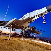 F-4 Phantom on display at the B-29 All Veterans Memorial at the Pratt Municipal Airport in Pratt, Kansas.