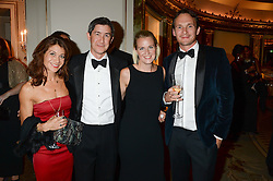 Left to right, MELINDA REED, JOHN SHEEKEY, FRANKIE SHEEKEY and RICHARD REED co-founder of Innocent Smoothies at the inaugural Stephen Lawrence Memorial Ball held at The Dorchester, Park Lane, London on 17th October 2013.