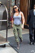 Aug. 12, 2014 - New York City, NY, United States - <br /> <br /> Melanie Brown aka Mel B left a downtown hotel on August 12 2014 in New York City <br /> ©Exclusivepix