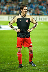 MARSEILLE, FRANCE - Tuesday, September 16, 2008: Liverpool's Yossi Benayoun warms-up before the opening UEFA Champions League Group D match against Olympique de Marseille at the Stade Velodrome. (Photo by David Rawcliffe/Propaganda)