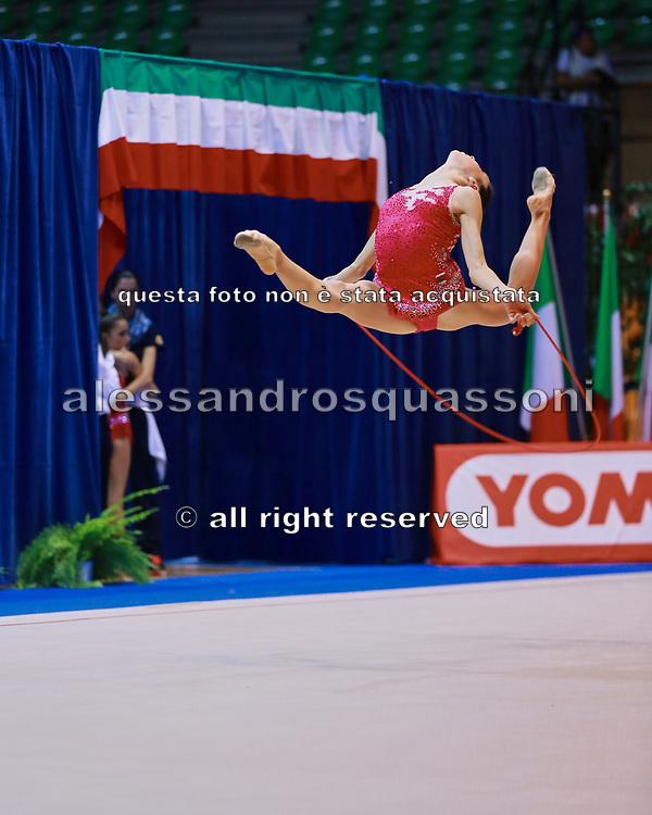 Maria Vilucchi  atleta della Società Petrarca Arezzo durante la seconda prova del Campionato Italiano di Ginnastica Ritmica.<br /> La gara si è svolta a Desio il 31 ottobre 2015.