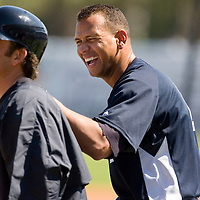 New York Yankees Alex Rodriguez during Major League Baseball's spring training at Legends Field on Monday, February 20, 2007 in Tampa, Florida. Photo/Scott Audette