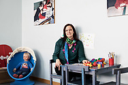 Milano, Italia - Stefania Murra, dottoressa, ritratta all'interno dell'Istituto Benedetta D'Intino a Milano.<br /> Ph. Roberto Salomone