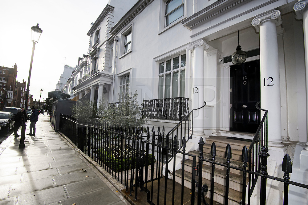 © Licensed to London News Pictures. 10/11/2018. London, UK. A property in Knightsbridge, London, which belongs to Zamira Hajiyeva, who was released on bail earlier this week at an appeal court hearing in London. Zamira Hajiyeva, 55, who spent £16 million over a decade at luxury department store Harrods in London, is the subject of the first two unexplained wealth orders (UWO) obtained by the UK National Crime Agency (NCA) . Her husband, the former state banker Jahangir Hajiyev, is serving a 15-year prison sentence for embezzlement. Photo credit: Ben Cawthra/LNP