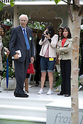 SIR GEORGE MARTIN, MARY MCCARTNEY AND OLIVIA HARRISON Opening day of the Chelsea Flower Show. Royal Hospital Grounds. London. 19 May 2008 *** Local Caption *** -DO NOT ARCHIVE-© Copyright Photograph by Dafydd Jones. 248 Clapham Rd. London SW9 0PZ. Tel 0207 820 0771. www.dafjones.com.