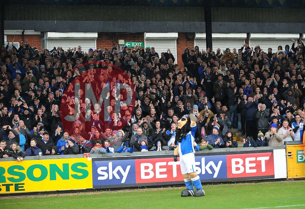 Bristol Rovers fans - Mandatory byline: Neil Brookman/JMP - 20/02/2016 - FOOTBALL - Memorial Stadium - Bristol, England - Bristol Rovers v Morecambe - Sky Bet League Two