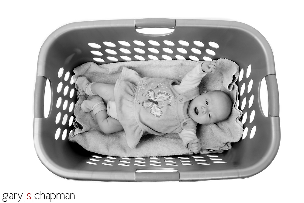Our niece's three-month-old daughter, Selah, uses a laundry basket for a crib when she visits her grandparents. We've also seen her sleep in a dresser drawer. I have a feeling she's going to be an easy-going traveler.