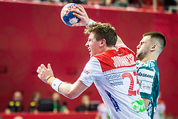 Goran Johannessen of Norway during handball match between National teams of Norway and Norway on Day 3 in Preliminary Round of Men's EHF EURO 2018, on January 14, 2018 in Arena Zatika, Porec, Croatia. Photo by Ziga Zupan / Sportida