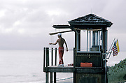 life guard overlooking water