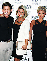 LONDON - July 20:  Sam Faiers; Joey Essex; Billie Faiers at the Kensington Club Celebrity Launch (Photo by Brett D. Cove)