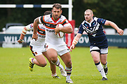 Bradford Bulls hooker Scott Moore (34) in action  during the Kingstone Press Championship match between Swinton Lions and Bradford Bulls at the Willows, Salford, United Kingdom on 20 August 2017. Photo by Simon Davies.