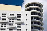 Art deco architecture at The Royal Palm Hotel, South Beach, Miami, Florida, United States of America