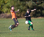 - DUSC (tangerine) v Hilltown Hotspur (black and green) in the Dundee Saturday Morning Football League at Riverside, Dundee. Photo: David Young<br /> <br />  - © David Young - www.davidyoungphoto.co.uk - email: davidyoungphoto@gmail.com