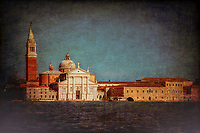"""View from the Grand Canal of the church of San Giorgio Maggiore in Venice - Dark""…<br />