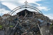 Torrita, 13/04/2017: chiesa di Santa Maria danneggiata dal terremoto del 30 ottobre.<br /> &copy; Andrea Sabbadini