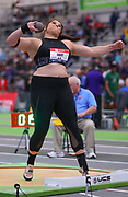 Chase Ealey competes in the shot put during the USA Indoor Track and Field Championships in Staten Island, NY, Sunday, Feb 24, 2019. (Rich Graessle/Image of Sport)