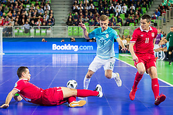 Matej Fidersek of Slovenia during futsal match between Slovenia and Serbia at Day 1 of UEFA Futsal EURO 2018, on January 30, 2018 in Arena Stozice, Ljubljana, Slovenia. Photo by Ziga Zupan / Sportida